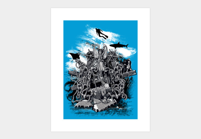 Treasures of the Deep Art Print - Design By Humans