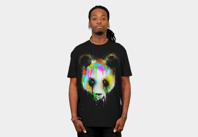 Technicolour Panda T-Shirt - Design By Humans