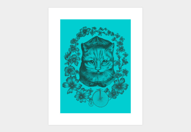 Vintage Cat Art Print - Design By Humans