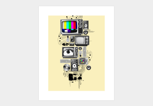 Technicolor Art Print - Design By Humans