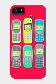 Vintage Mobile Phones Pattern