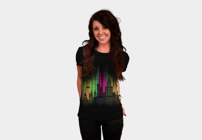 The Neon City T-Shirt - Design By Humans