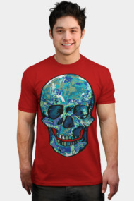 Blue colored skull