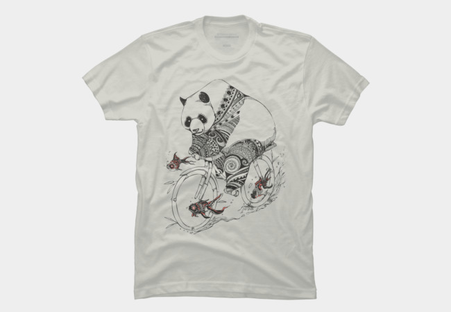 Panda and Follow Fish Men's T-Shirt