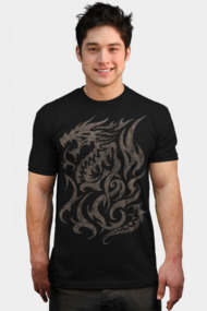 Vintage Tribal Dragon