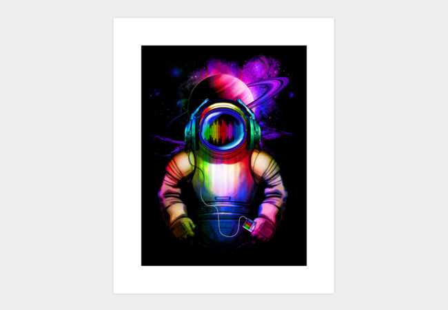 Music in Space Art Print - Design By Humans