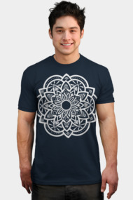 Ornamental Lotus Mandala - White