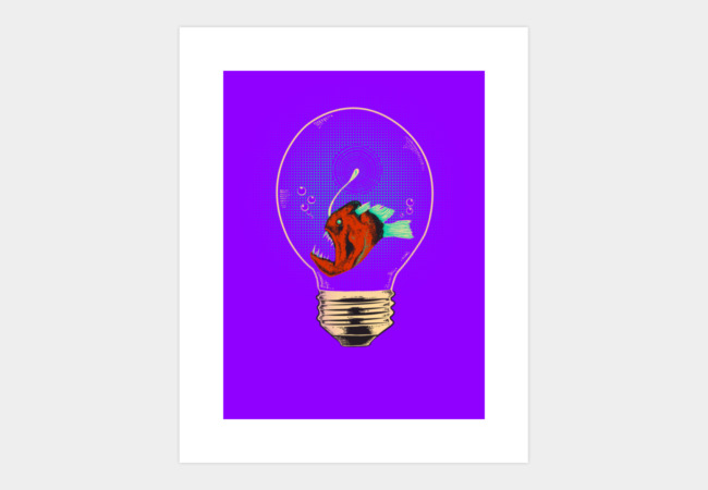 Anglerfish bulb Art Print - Design By Humans