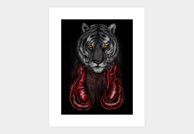 Wild Boxer Art Print - Design By Humans