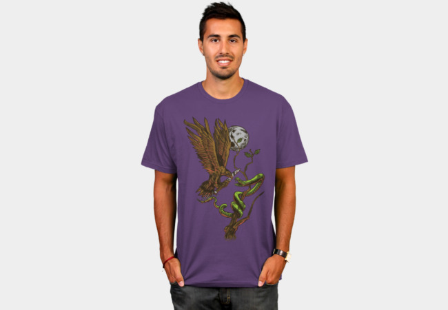 Bird Vs. Snake T-Shirt - Design By Humans