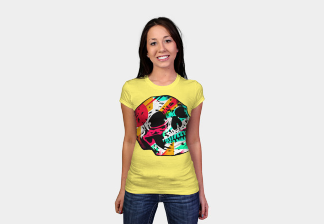 Skull and Color T-Shirt - Design By Humans