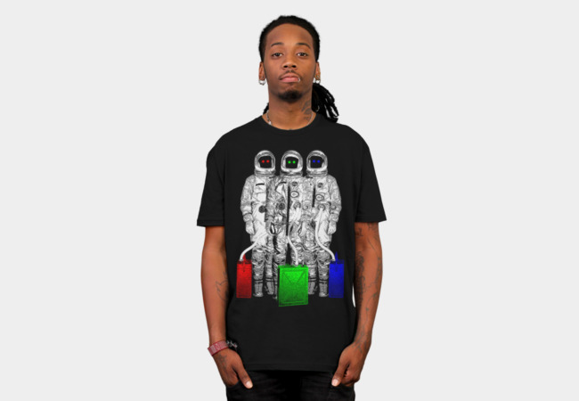 RGB Astronauts T-Shirt - Design By Humans