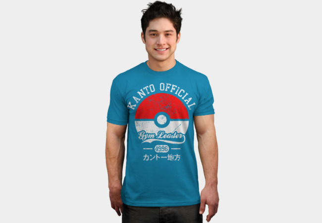 Kanto official - Gym leader T-Shirt - Design By Humans