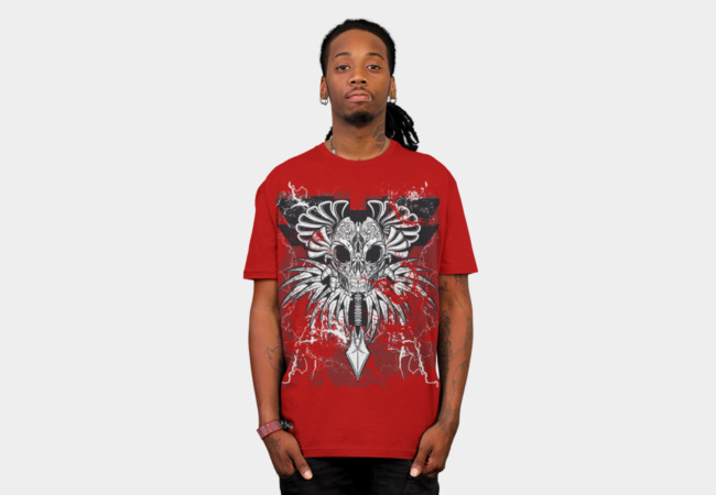 Tribal Skull T-Shirt - Design By Humans