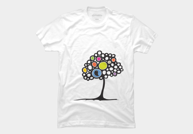 Bird on a tree Men's T-Shirt
