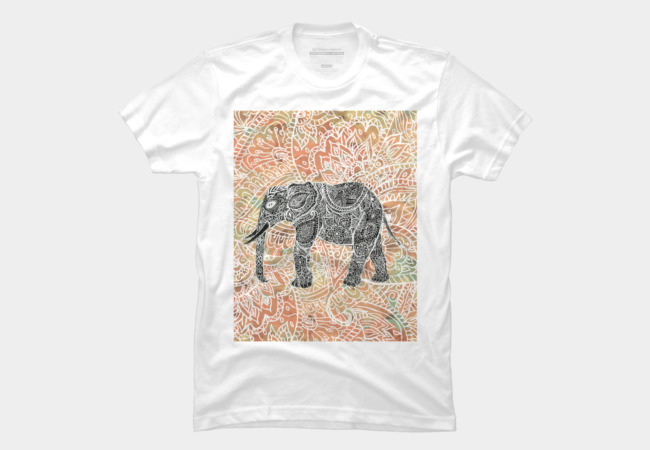 Tribal Paisley Elephant Colorful Henna Patter