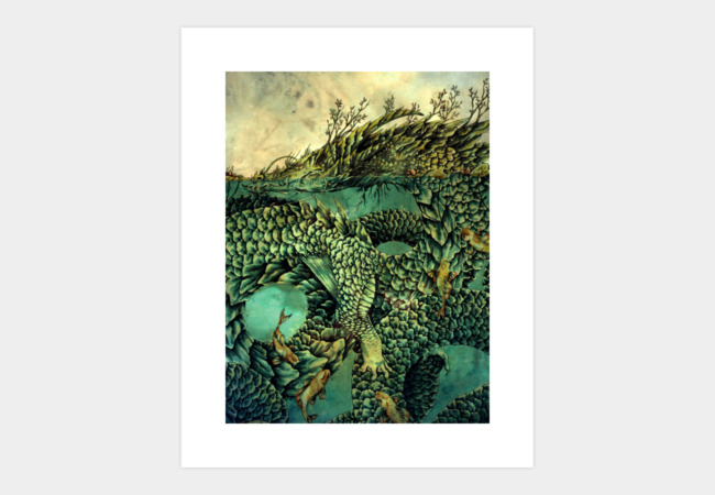 River Dragon Art Print - Design By Humans