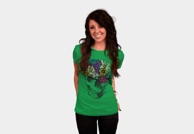 Floral Pirate T-Shirt - Design By Humans