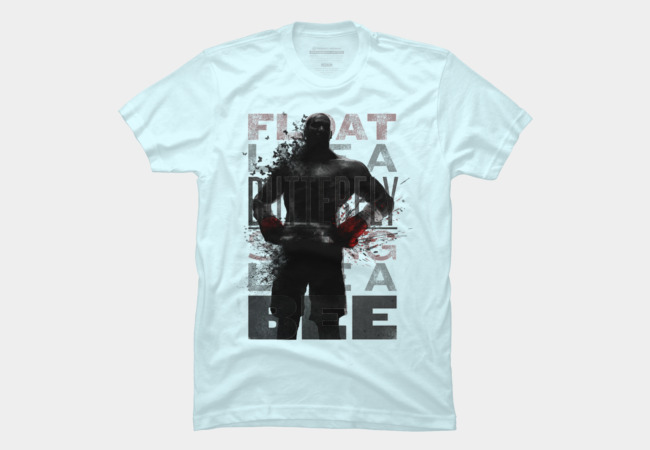 """Float Like a Butterfly, Sting Like a Bee"" Men's T-Shirt"