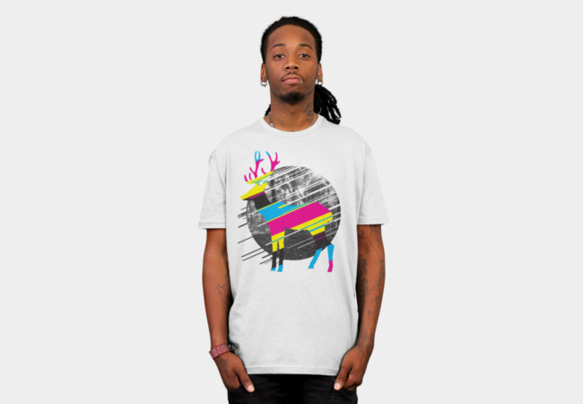CMYK Deer T-Shirt - Design By Humans