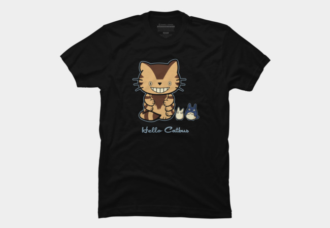 Hello Catbus Men's T-Shirt