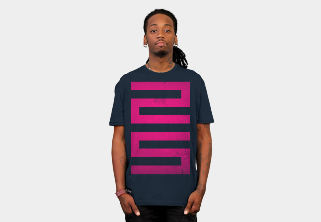 25 : Pink Condensed T-Shirt - Design By Humans
