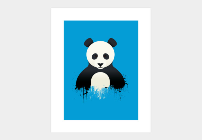 Panda Splatt Art Print - Design By Humans