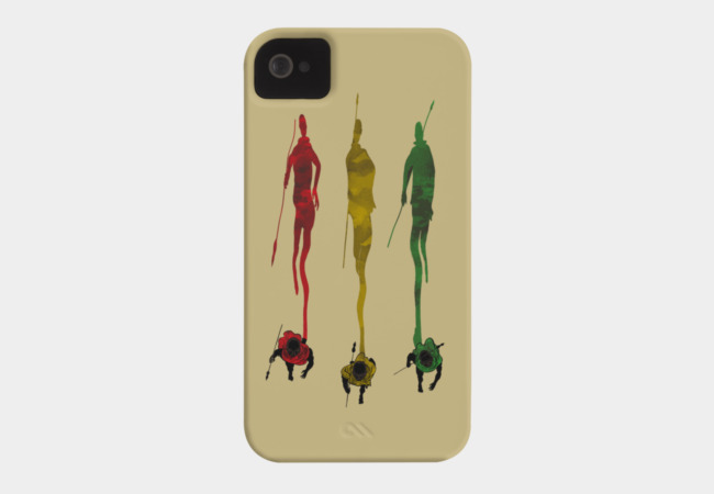 Masai Shadows Phone Case - Design By Humans