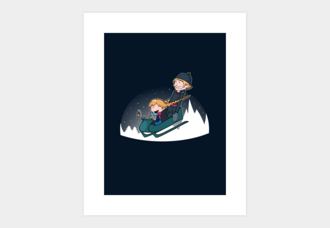 A Snowy Ride Art Print - Design By Humans