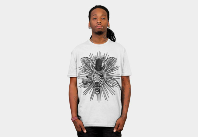 Laughing Zebra Trophy Head T-Shirt - Design By Humans
