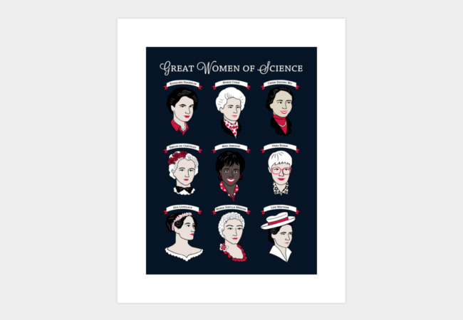 Great Women of Science Art Print - Design By Humans