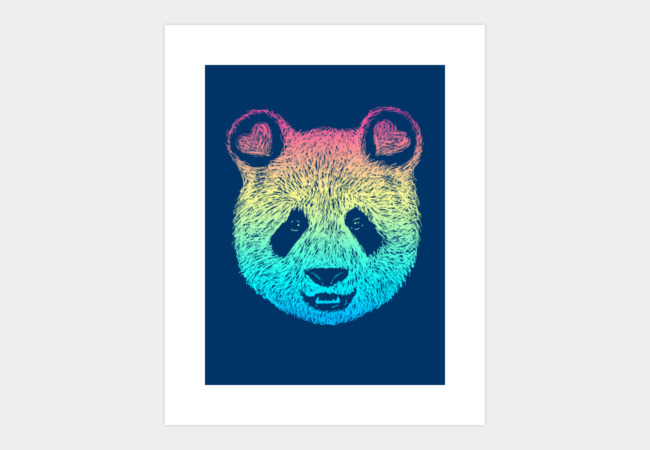 Rainbow Panda Art Print - Design By Humans
