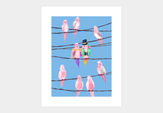Lovebirds Art Print - Design By Humans