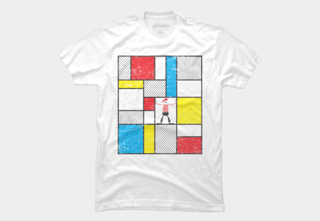 Mondrian's Mime Men's T-Shirt