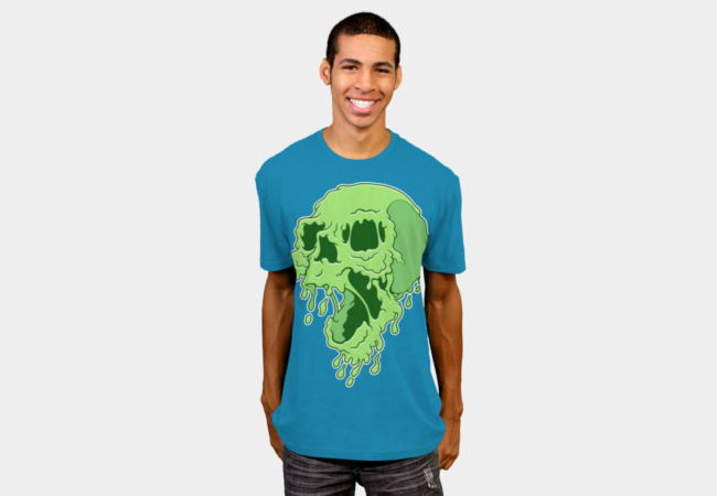 Melty Skull T-Shirt - Design By Humans