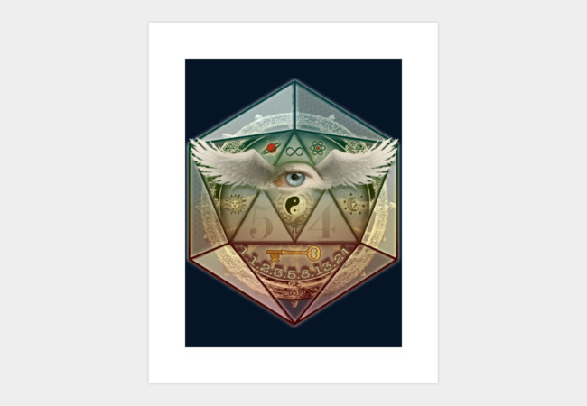 Divine Eye & Symbolism Art Print - Design By Humans
