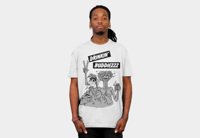 Drinking Buddiezzz T-Shirt - Design By Humans