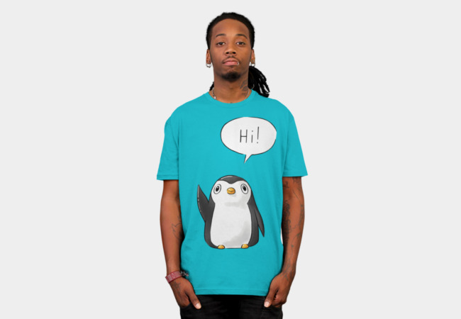 Hi Penguin T-Shirt - Design By Humans
