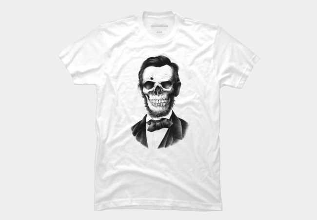 Lincoln Skull Men's T-Shirt
