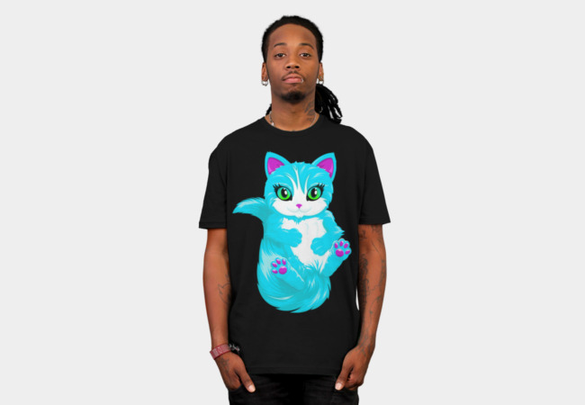 Neon Cat T-Shirt - Design By Humans