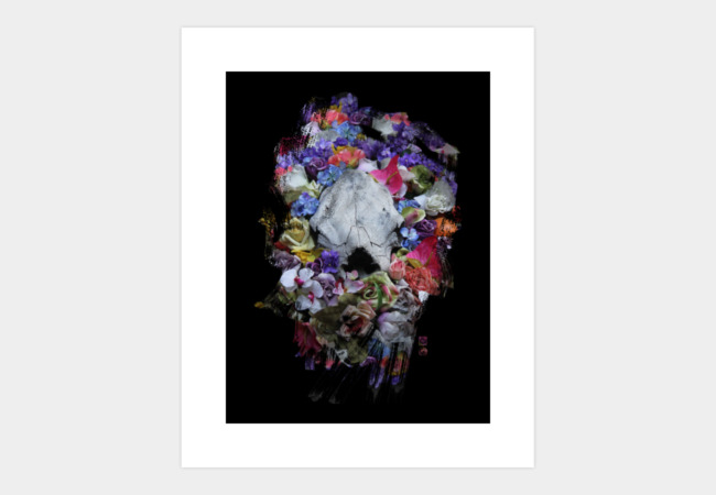 Skull Blossoms Art Print - Design By Humans