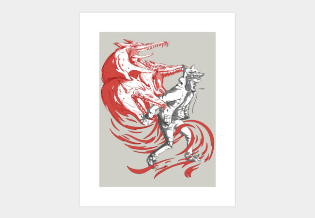 RAWR! Art Print - Design By Humans