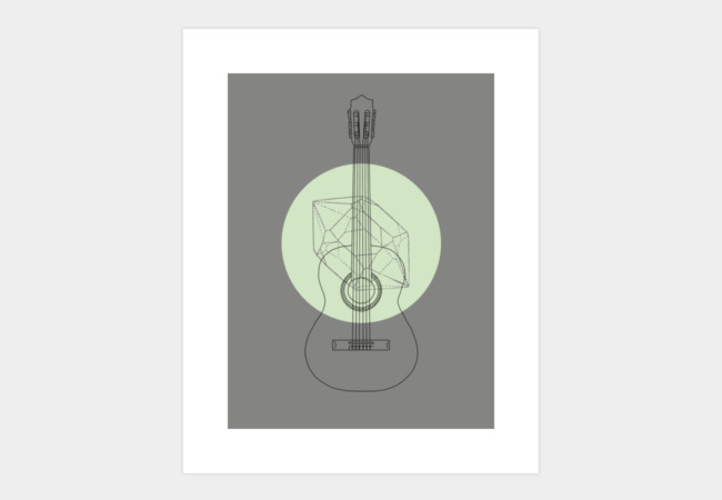 Guitar Art Print - Design By Humans