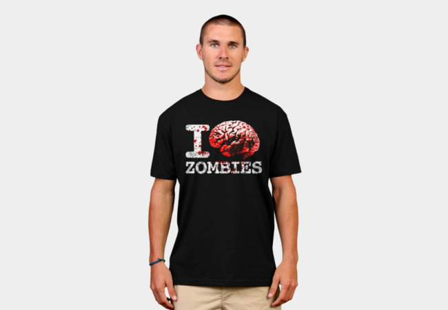 I Brain Zombies t-shirt T-Shirt - Design By Humans