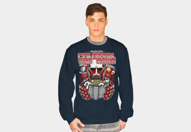 Colossal Titan Crunch Sweatshirt - Design By Humans