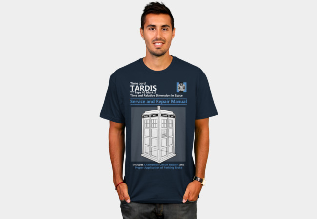 Tardis Service and Repair Manual T-Shirt - Design By Humans