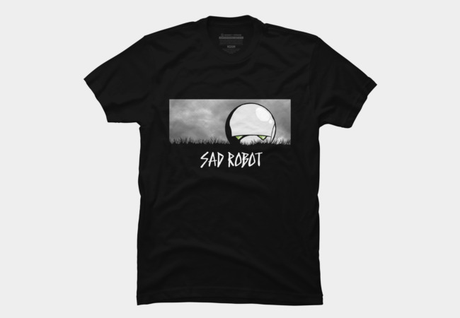 Sad Robot Men's T-Shirt
