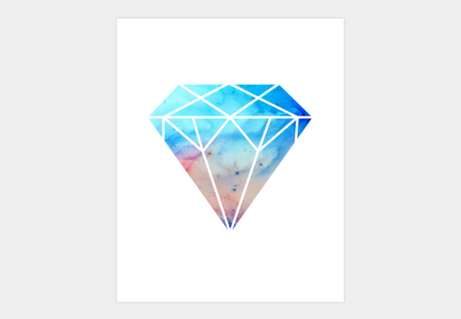 Galaxy Diamond Art Print - Design By Humans