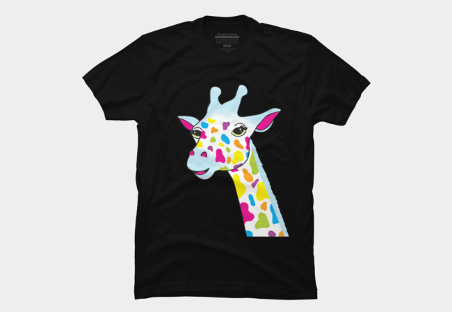 Rainbow Giraffe Men's T-Shirt