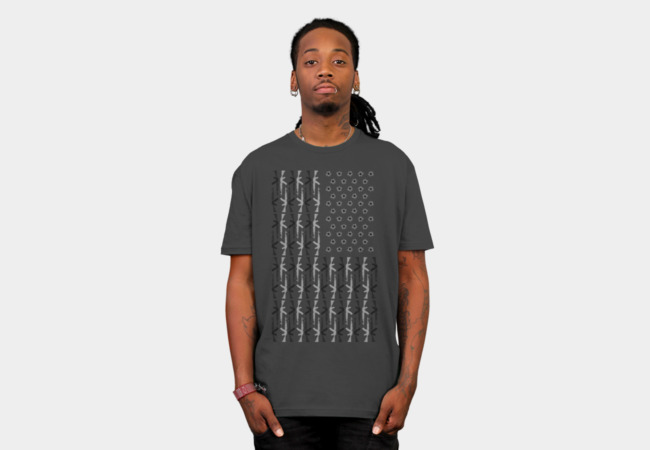 Gun Country B&W T-Shirt - Design By Humans